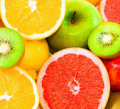 Big assortment of fruits — Stock Photo