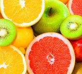 Big assortment of fruits — Stock Photo