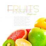 Big assortment of fruits — Stock Photo #8356747