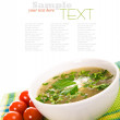 Minestrone vegetable soup — Stock Photo #8358781