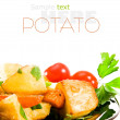 Roasted potatoes with herbs — Stock Photo
