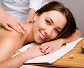 Women relaxing in spa salon — Stock Photo