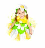 Papatya kostümü, küçük kız — Stok fotoğraf