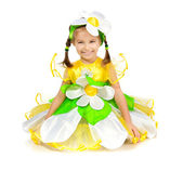 Little girl in camomile costume — Stock Photo