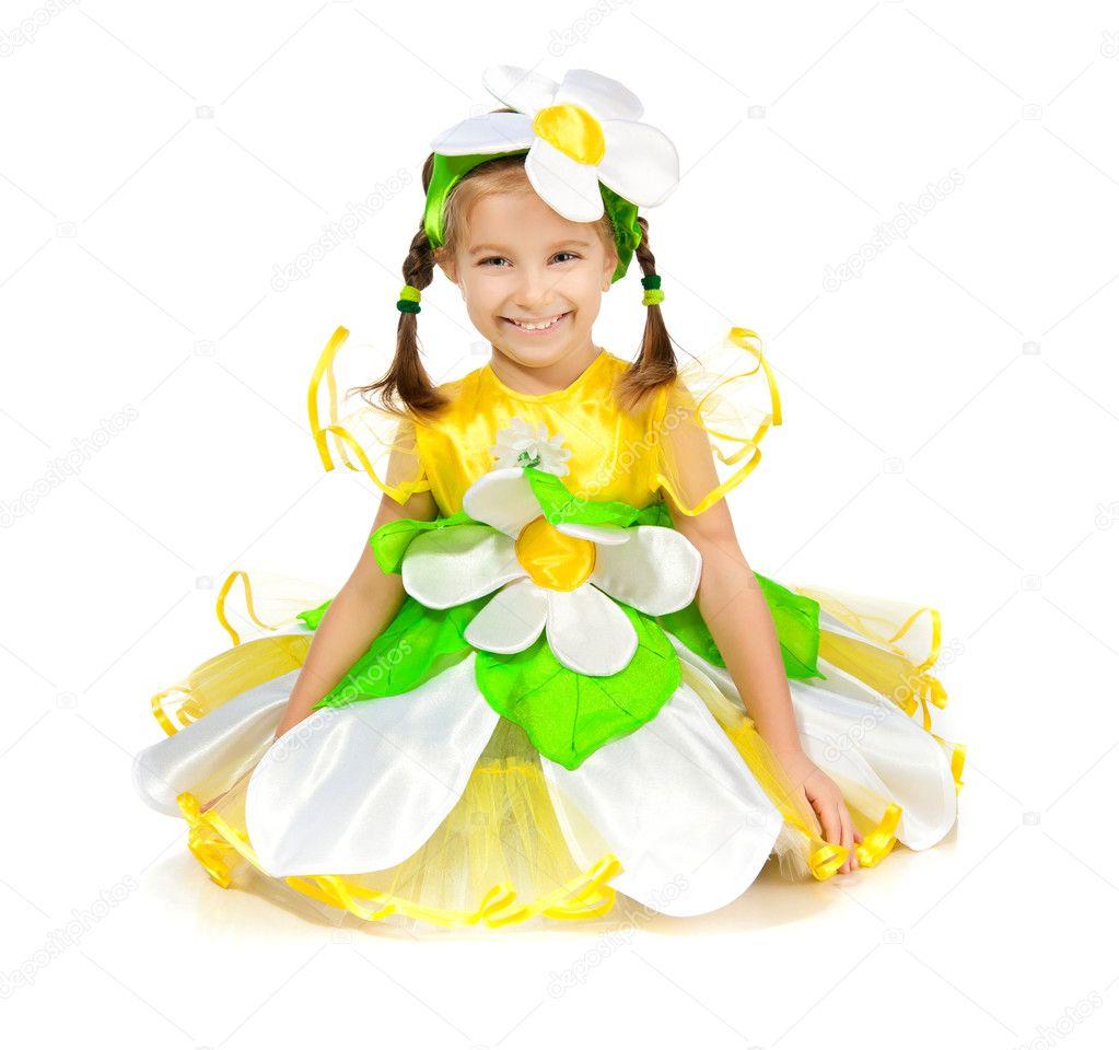 Костюм ромашки для девочки своими руками фото