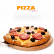 Pizza over white — Stock Photo