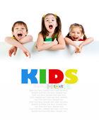 Sevimli küçük çocuklar — Stok fotoğraf