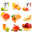 Royalty-Free Stock Photo: Collage of fresh juice