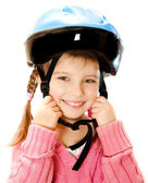 Girl in crash helmet — Stock Photo