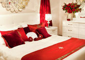 Lüks ev yatak odası — Stok fotoğraf