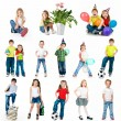 Set of a kids photos — Stock Photo