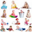 collectie baby foto 's — Stockfoto #9972961