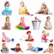 Collection baby photos — Stock Photo #9972961