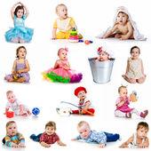 Koleksiyon bebek fotoğraf — Stok fotoğraf