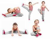 Kız jimnastikçi — Stok fotoğraf
