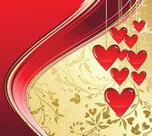 Sevgiliye arka plan — Stok Vektör