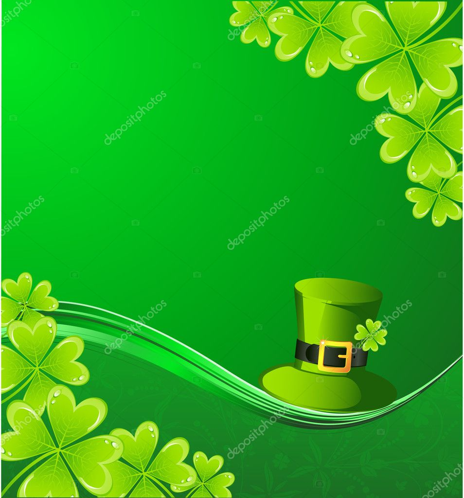 The vector illustration contains the image of St. Patrick background — Stock Vector #8610389