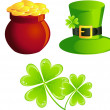 St. Patrick icons — Stock Vector