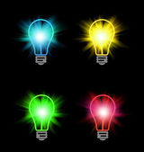 Different color bulbs — Stock Photo