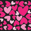 Abstract pink hearts - Image vectorielle