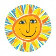 Abstract smiling sun — Stock Vector