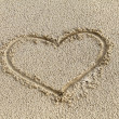 Heart in the sand — Stock Photo #10263595