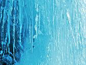 Textura natural hielo azul — Foto de Stock