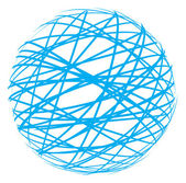 Abstract sphere from blue lines — Stock Vector