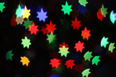 Neon stars holiday background — Stock Photo