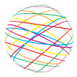 Abstract sphere from color lines - Stockvectorbeeld