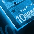 X-ray euro money abstract background - Stock Photo