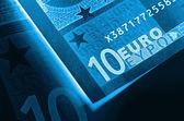 X-ray euro money abstract background — Stock Photo