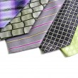 Selection of ties — 图库照片
