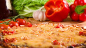 Sliced pizza — Stockfoto
