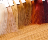 Dyed locks of hair — Stock Photo