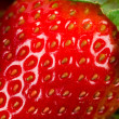 Macro of strawberry — Stock Photo