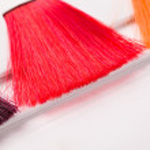 Dyed locks of hair — Stock Photo