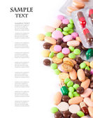 A lot of pills — Stock Photo