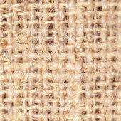 Close-up of natural burlap hessian sacking. Background texture using burlap material. — Stock Photo