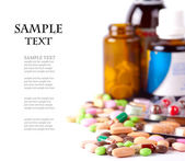 Heap of colorful pills — Stock fotografie