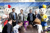 KIEV, UKRAINE MAY 11. 2012: The UEFA Cup is coming to Kiev. — Stockfoto