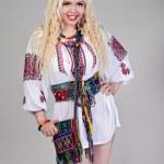 Woman wears Ukrainian national dress — Stock Photo #10545198