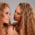 Two sisters twin women friends — Stock Photo #8860733