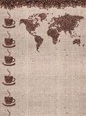 コーヒーの地図 — ストック写真