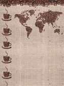 Kaffe karta — Stockfoto