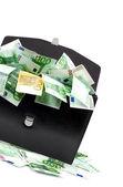Maletín con dinero — Foto de Stock