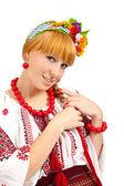 有吸引力的女人戴着乌克兰民族服饰 — 图库照片