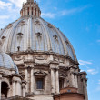St. Peter's Basilica in Vatican City in Rome, Italy. - Stock Photo