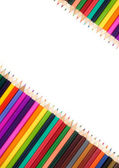Assortment of coloured pencils — Zdjęcie stockowe