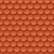 Seamless terracota roof tile - pattern for continuous replicate. — Stock Vector #10148925